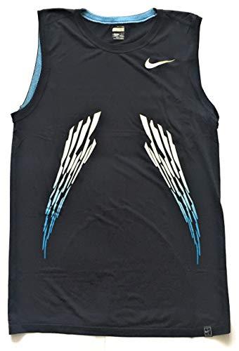 Nike 2008 Power - Maglia da tennis senza maniche da uomo, taglia L 280280 453, colore: Blu ossidiana