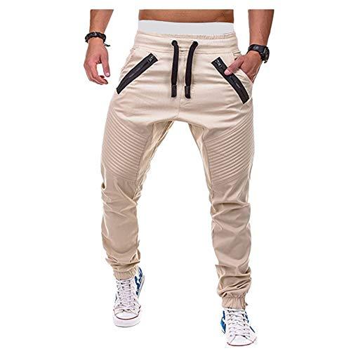 Hhckhxww Pantalones De CháNdal Sueltos De Primavera Pantalones Recortados Casuales Cintura EláStica Leggings De Herramientas Pantalones Harem