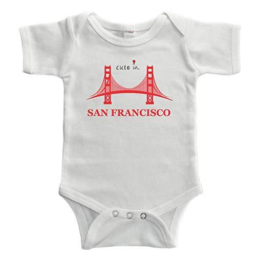 Promini - Body de bebé divertido en San Franciscos Blanco blanco 9 mes