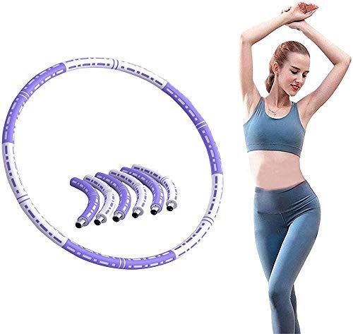 Aro de fitness desmontable de 6 piezas con peso para adultos, con acolchado de espuma suave y grueso