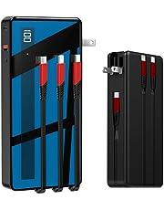 モバイルバッテリー ケーブル内蔵 大容量 15000mAh PD 18W 急速充電 ACアタプター 折りたたみ式 スマホ 充電器 コンパクト 小型 軽量 携帯充電器