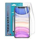Qoosea Pellicola Protettiva Compatibile per iPhone 11 6.1' [3 Pezzi Dietro] TPU Protezione Schermo...