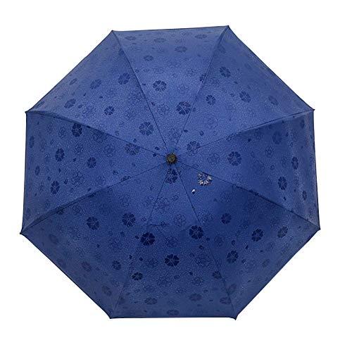 FAGavin Paraguas Plegable Paraguas Autorretrato Agua Encuentro Floración Paraguas Golf Paraguas Anti-UV Paraguas Plegable Azul