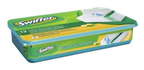 Swiffer Feuchte Bodentücher Nachfüllpackung, 4er Pack (4 x 12 Stück)