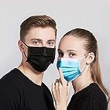 Gually 4 Capas Negro 50 Piezas, Protege la Boca y la Nariz, Evita El Contacto De Polvo Y La TransmisióN, protección para Adultos