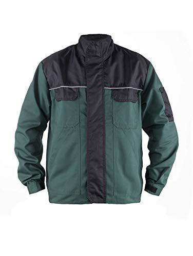 TMG® Herren Arbeitsjacke Bundjacke - leichte Jacke für die Arbeit - Gartenjacke für Gärtner - grün - S