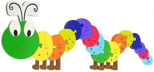 mejor calidad Large Wooden Caterpillar Floor Floor Floor Puzzle by naranja Tree Toys  hasta un 65% de descuento