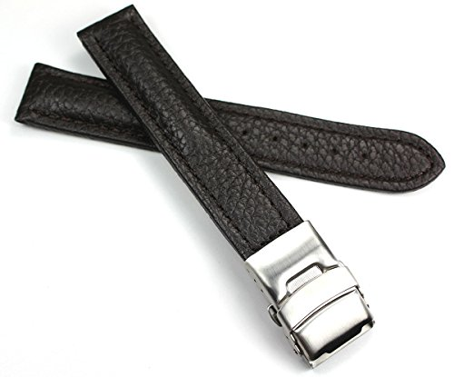 Sulla - Cinturino per orologio in pelle di vitello, 18 mm, con fibbia deployante