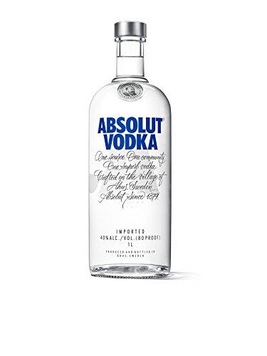 Absolut Vodka Original – Edler und extrem reiner Premium-Vodka aus Schweden in der ikonischen Apotheker-Flasche – 1 x 1 L