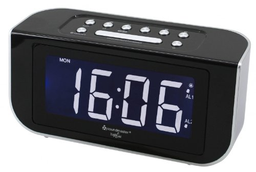 Soundmaster FUR4005 PLL UKW Funkuhrenradio, Wecker, Dual-Alarm, dimmbares Display