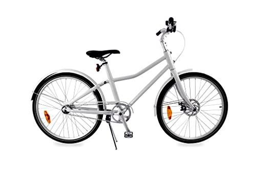 Blanco Aluminiumrahmen Unisex Fahrrad 'City Bike Deluxe' 26 Zoll 2 Gang Automatikschaltung - Weiß