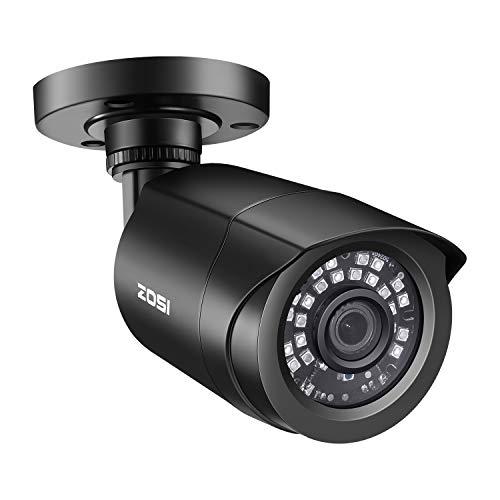 ZOSI 1080P Cámara de Vigilancia Exterior para CCTV Kit de Cámara de Seguridad, 20m Visión Nocturna, con Botón OSD