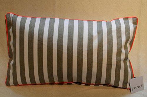 PAD - Kissenhülle - Kissenbezug - CHETTO - beige/weiß - gestreift - 30 x 50 cm