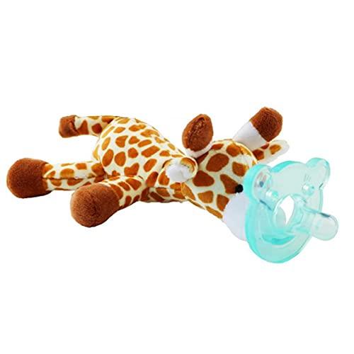 Nicedier Juguete Animal bebé con Silicona Chupete Chupete soothie Infantil y el Titular de mordedores con el Juguete de Felpa - Random Estilo de simulación Juguetes de Peluche