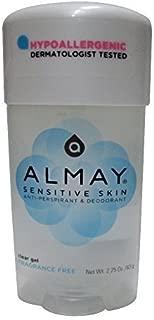 Almay Sensitive Skin Clear Gel, Anti-Perspirant and Deodorant, 2.25 Oz (Pack of 6)