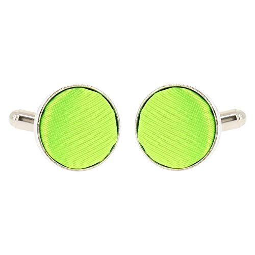 Boutons de Manchette Vert fluo pour Homme - Accessoire Poignet Chemise et Veste de Costume - Mariage, Cérémonie