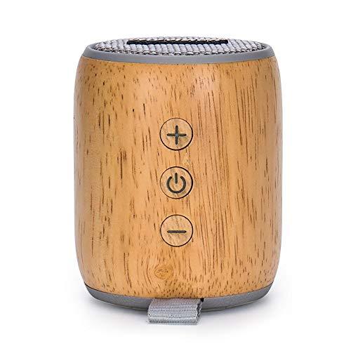KDAQO Lautsprecher Auto Wireless, bewegliche Massivholz-Lautsprecher-Lautsprecher, Außen Mini-Basslautsprecher, Auto-HD Wireless-Lautsprecher (grau)