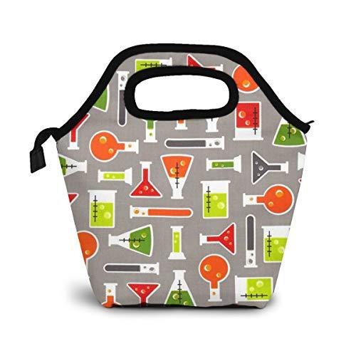 TUYUFBAGS Science Fair Test Lunch Tasche Isoliertasche Kühltasche Lunchtasche Thermische Lunch Tasche Mittagessen Tasche für Mädchen Kinder
