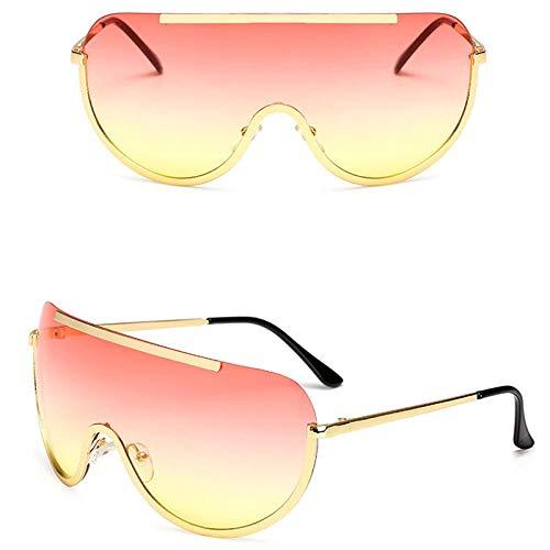 chuanglanja Gafas De Sol Mujer Joven Gafas De Sol Grandes Para Mujer Clásicas Redondas Para Exteriores De Metal Para Exteriores Vacaciones Conducción-Color-W
