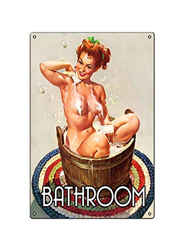 Boggevi Kells - Placa de metal para pared, diseño de chica pinup pin-up
