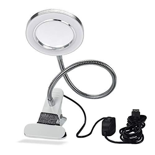 Lampada da tavolo, Anself USB regolabile freddo bianco luce da tavolo per sopracciglio Tattoo Nail Art Bellezza trucco Protezione degli occhi No Glare