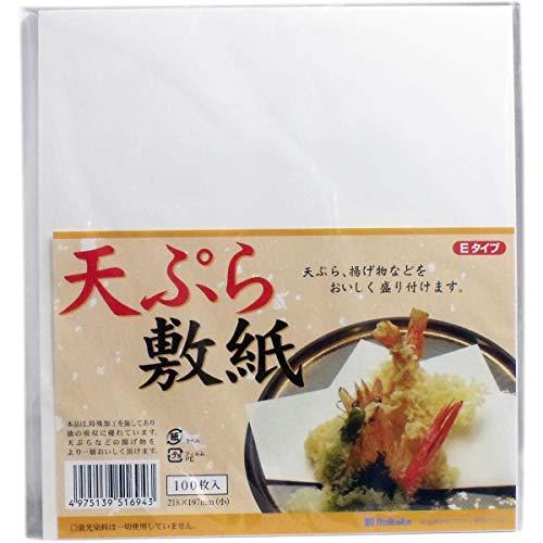 Tikusan Japanese Tempura Paper, Oil-Absorbing Cooking Paper, 8.6' × 7.8', 100Sheets, Made in Japan