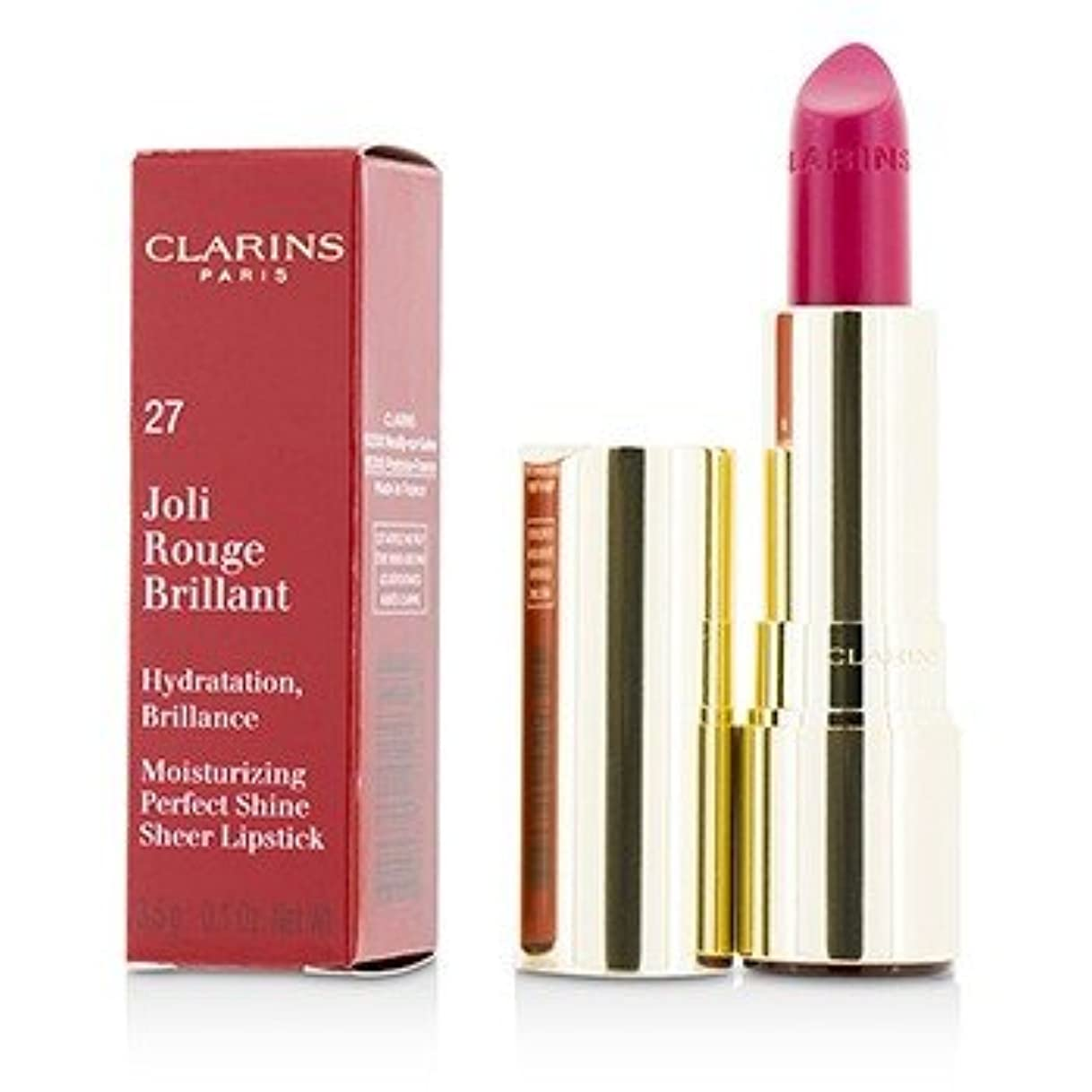不安定文句を言うなしで[Clarins] Joli Rouge Brillant (Moisturizing Perfect Shine Sheer Lipstick) - # 27 Hot Fuchsia 3.5g/0.1oz