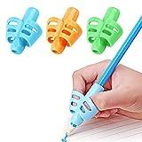 Pencil Grips, DMFLY Pencil Grips for Kids Handwriting, Children Pen Writing Aid Grip Set Posture Correction Tool for Kids Preschoolers Children, Hollow Ventilation Design, 3 Pack