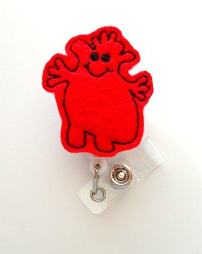 Henry the Heart - Retractable ID Badge Reel - MD Badge Holder - Cute Badge Reel - Nurse Badge Holder - Nursing Badge Clip - Felt Badge