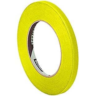 """TapeCase 3M 301+ 0.125"""" x 60yd Performance Masking Tape Converted from 3M 301+, 0.125"""" Width x 60 yd. Length Roll, Yellow"""
