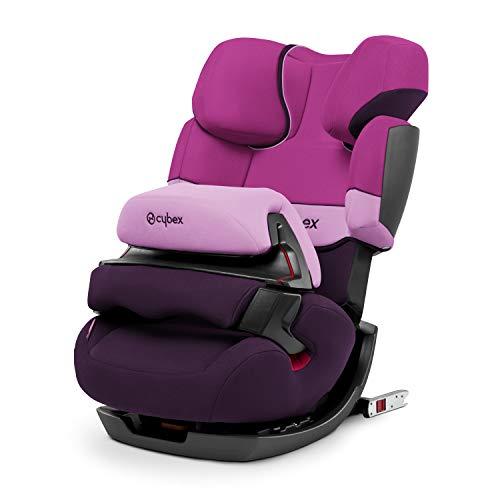 CYBEX Silver 2-in-1 Kinder-Autositz Pallas-Fix, Für Autos mit und ohne ISOFIX, Gruppe 1/2/3 (9-36 kg), Ab ca. 9 Monate bis ca. 12 Jahre, Purple Rain