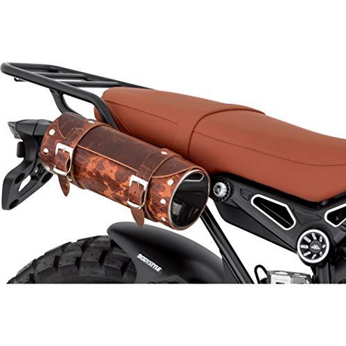 Stoverinck Hecktasche Motorrad Motorradtasche Lederwerkzeugrolle Borchia 2,5 Liter antik braun, Unisex, Chopper/Cruiser, Ganzjährig