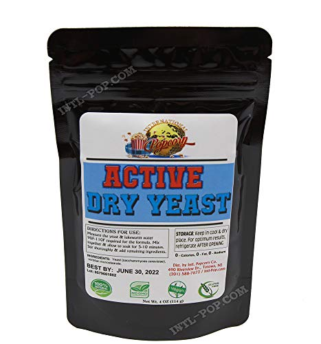Active Dry Yeast 4 oz EXPIRES 06-2022 - FAST Shipping! Slim Resealable bag - Easily stores in your refrigerator or freezer for future uses!