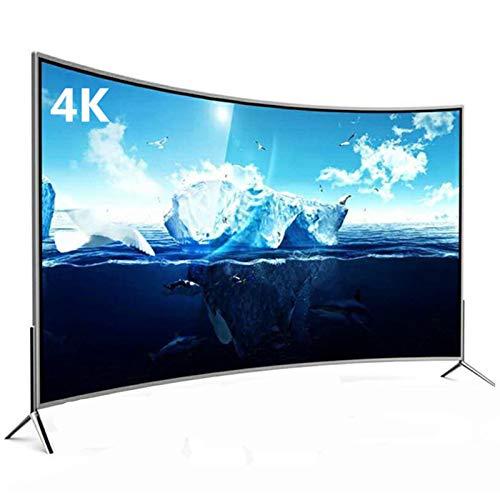 Home appliances Televisor Curvo Inteligente 4K, Televisor LED HDR Ultradelgado, Cubra La Pantalla De Visualización De Vidrio Templado, Interfaz Externa Rich TV con WiFi, con Soporte De Pared Dedicado