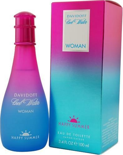Cool Water Happy Summer By Davidoff For Women, Eau De Toilette Spray, 3.4-Ounce Bottle by Davidoff