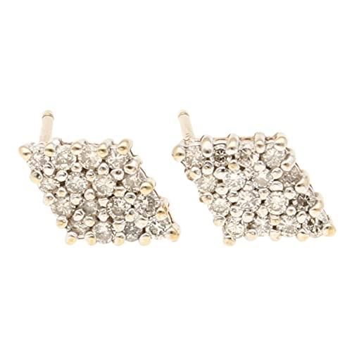 Pendientes de oro amarillo de 9 quilates para mujer con diamantes de 0,30 quilates (7 x 11 mm)   El regalo perfecto para una dama especial   Jollys Jewellers