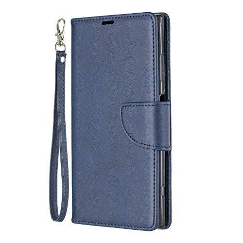 Zl One Compatível com/Substituição para Capa de telefone Sony Xperia XA1 Plus PU Couro Proteção Cartão Slots Capa Carteira Flip Capa (Azul)