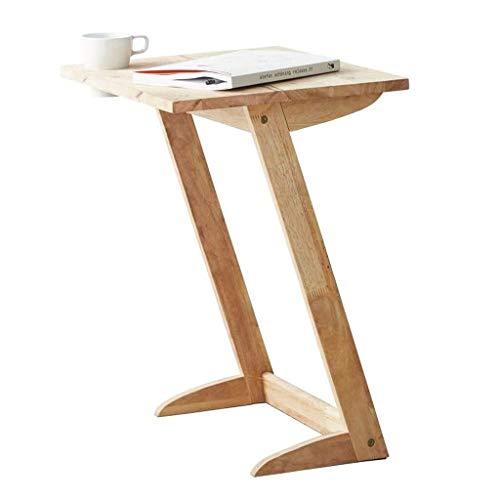 Side table-Q Mesa de escritorio para ordenador portátil, mesa de estudio, mesa de negocios, laterales de madera grandes, mesa para sofá, lectura, tamaño de la mesa: 61 x 50 x 40 cm, madera, a, 61*50*40CM