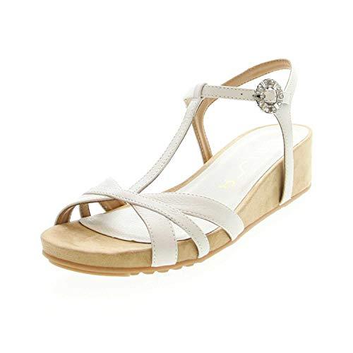 Unisa Damen Sandaletten weiß 663478