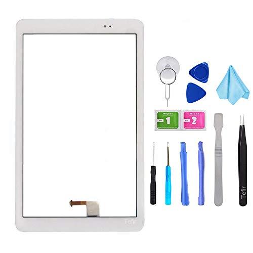 Tefir Nuevo reemplazo de Cristal del digitizador de la Pantalla táctil para Huawei Mediapad T1 10.0 T1-A21 T1-A21L + Kits de Herramientas
