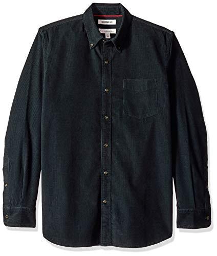 Amazon Brand - Goodthreads Men's Standard-Fit Long-Sleeve Corduroy Shirt, -navy, Medium