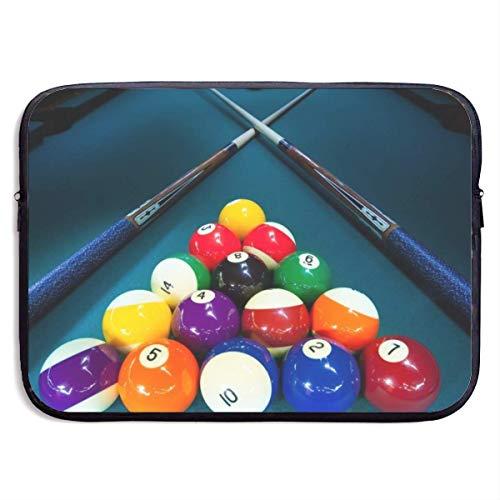 Funny Z Wasserdichte Laptop Hülle Billard Snooker Business Aktentasche Schutzhülle Computer Case Cover 13×10 Zoll