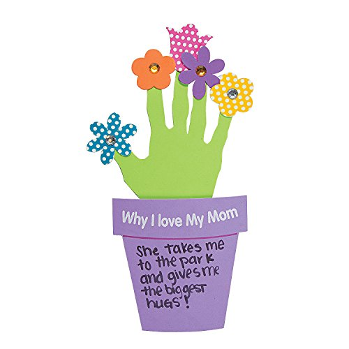 Fun Express Why I Love My Mother Handprint Craft Kit - Makes 12 - DIY Mother's Day Crafts for Kids