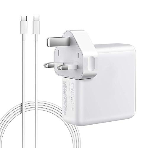 QINUKER USB C Power Adapter voor MacBook Pro lader, 87W laptop oplader voor MacBook