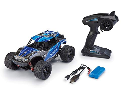Revell Control 24831 X-Treme schneller RC Truggy Cross Thunder, 2.4 GHz, proportional, 4WD Allrad, geländegängig, bis zu 50 km/h ferngesteuertes Auto, Blau