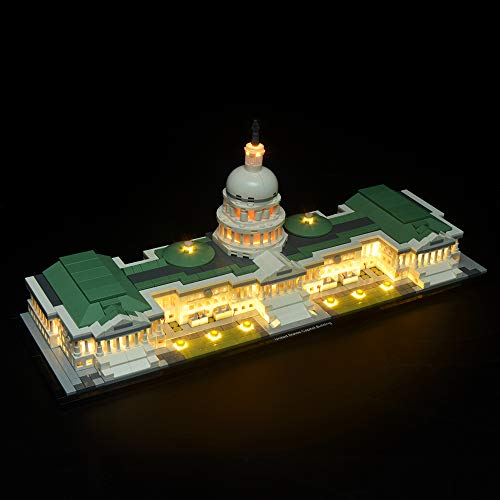 BRIKSMAX Led Lighting Kit for Architecture United States Capitol-Compatible with Lego 21030 Building Blocks Model- Not Include The Lego Set