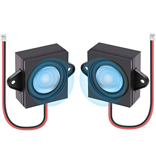 2 Stücke Lautsprecher für A rduino Mini Speaker 3 Watt 8 Ohm Single Cavity Mini Lautsprecher Full-Range Hohlraum Mobile Portable Werbung Maschine Lautsprecher mit JST-PH2.0mm-2 Pin Terminal