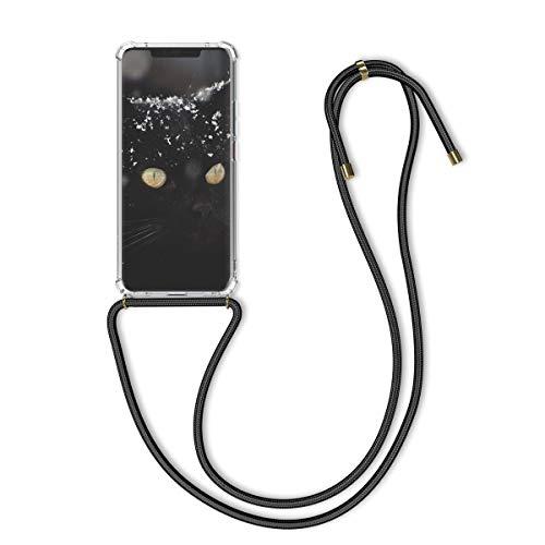kwmobile Schutzhülle kompatibel mit Huawei Mate 20 Pro - Hülle mit Kordel zum Umhängen - Silikon Handy Hülle Transparent