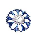 GuDeKe Mesdames Perle Fleur Forme Cornflower Bleuet Bleu Bro