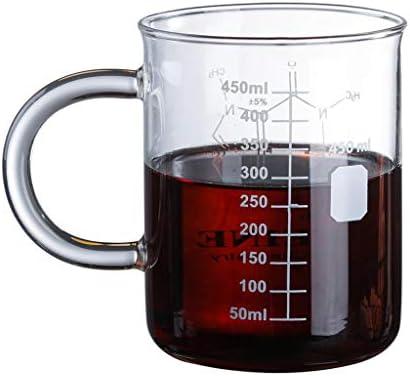 foshan Idkska Caffeine Beaker Mug Graduated Beaker Mug with Handle Borosilicate Glass Multi product image